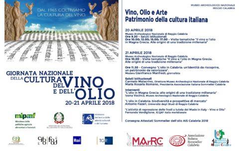 la Giornata Nazionale della Cultura del Vino e dell'Olio