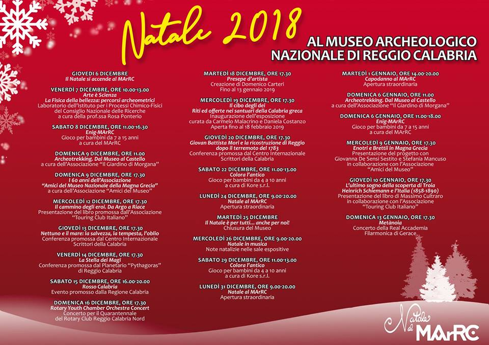 Menu Di Natale Calabrese.Natale Al Marrc 2018 Un Mondo Di Meraviglie